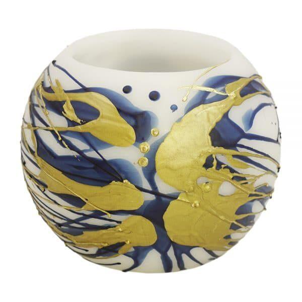 wax Lantern navy blue and Gold