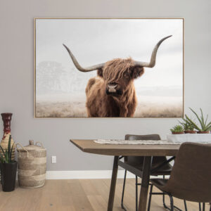 Highland Cow Wall Art Print