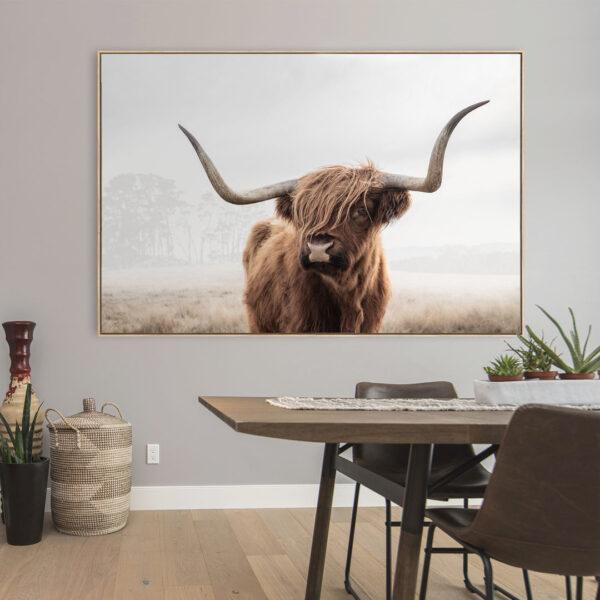 Highland Cow Wall Art Print