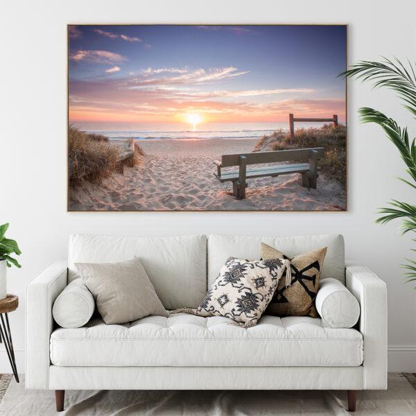 Kawana Beach Sunrise Print Wall Art