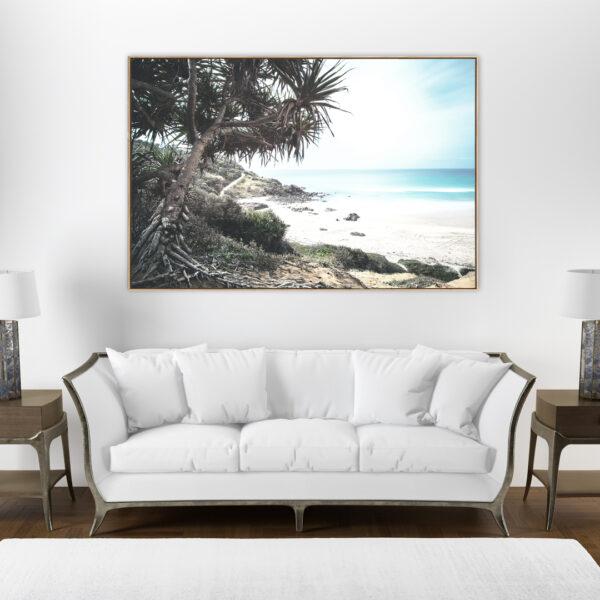 Noosa Shore Coastal Wall Art Print