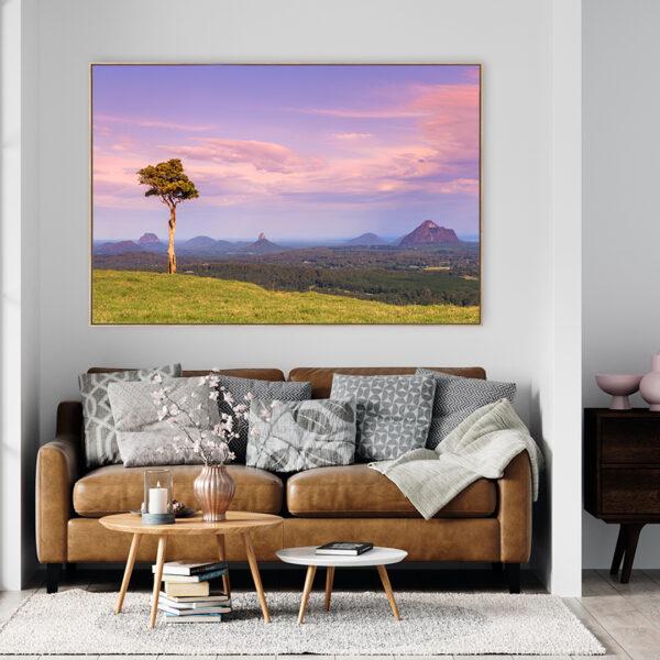 One Tree Hill Melany Hinterland Wall Art Print