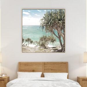 Pandanus Beach Ocean Wall Art Print