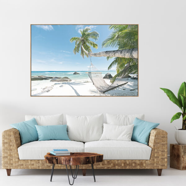 Seychelles Hammock Beach Paradise Wall Art Print