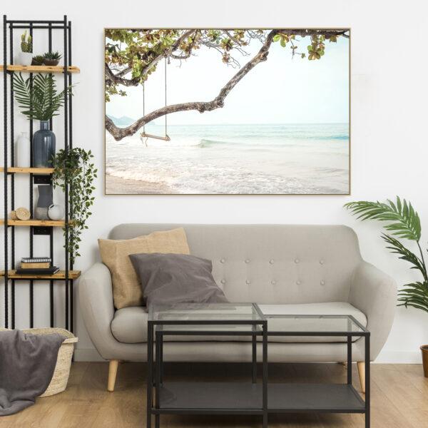 Tropical Swing Island Beach Wall Art Print