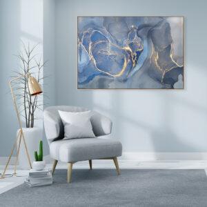 Blue Lagoon Canvas Print Wall Art