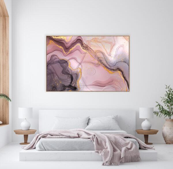 Blush Bliss Canvas Print Wall Art