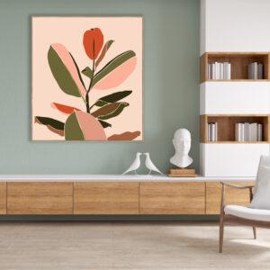Fiddle Leaf Canvas Print Wall Art
